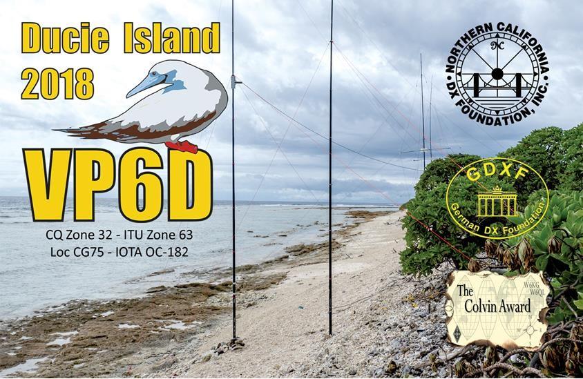 VP6D Ducie Island QSL Front