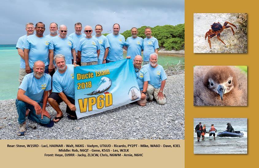 VP6D Ducie Island QSL Back