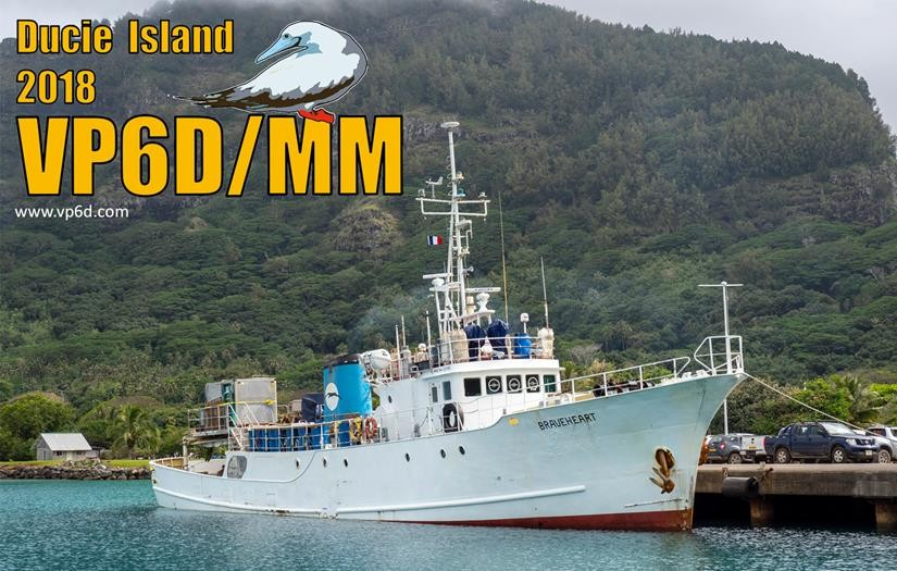 VP6D/MM Ducie Island QSL