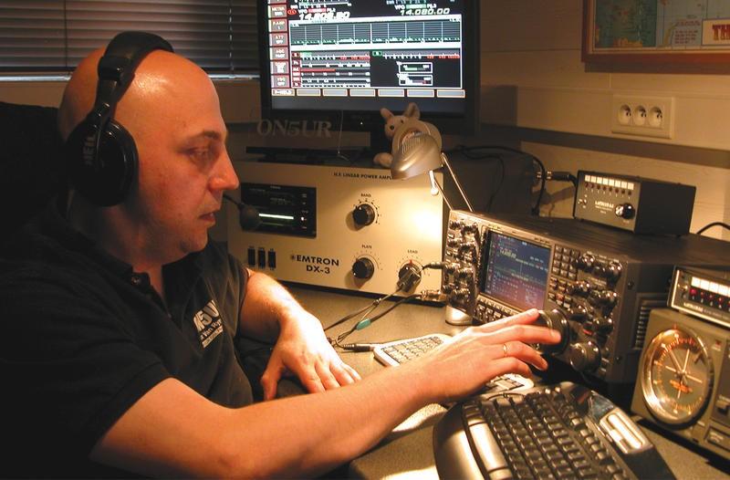 OR1X Max Van Rymenant, Zichem, Belgium. Radio Room Shack.