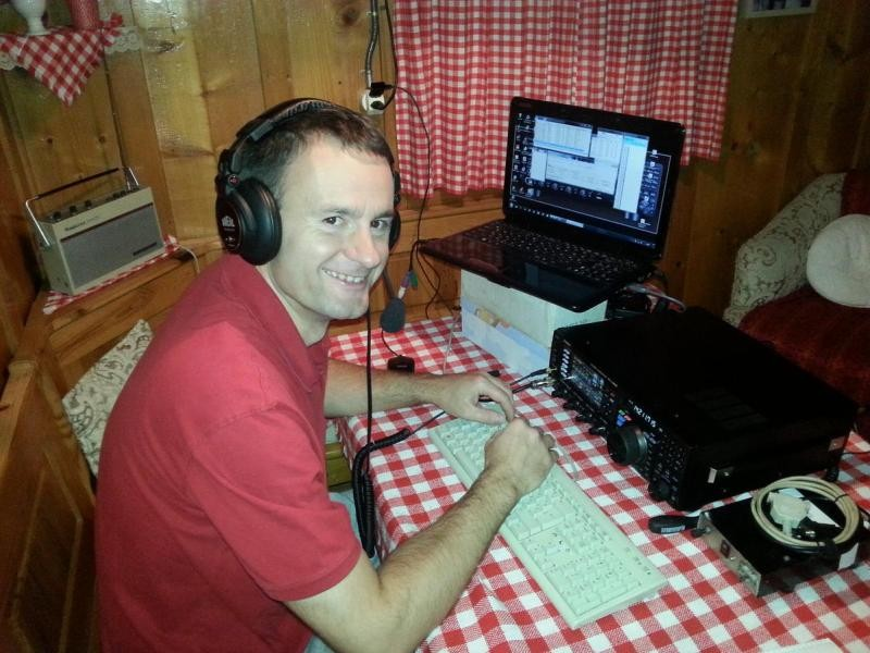 HA7I Laszlo Kiss, Bogacs, Hungary. Radio Room Shack.