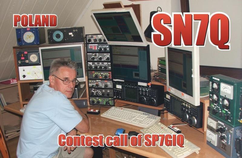 SN7Q Krzysztof Sobon, Lask, Poland. Radio Room Shack