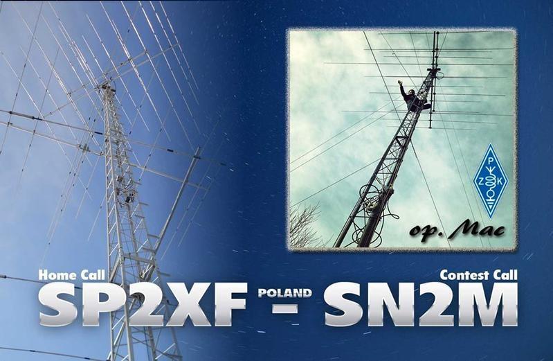 SN2M Maciej Wieczorek, Nowa Wies, Poland. QSL Card.