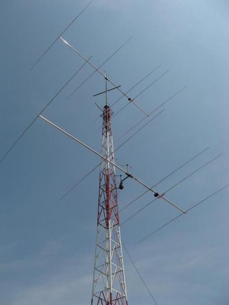 ZP5DBC Daniel Bernal, Asuncion, Paraguay. Antennas.