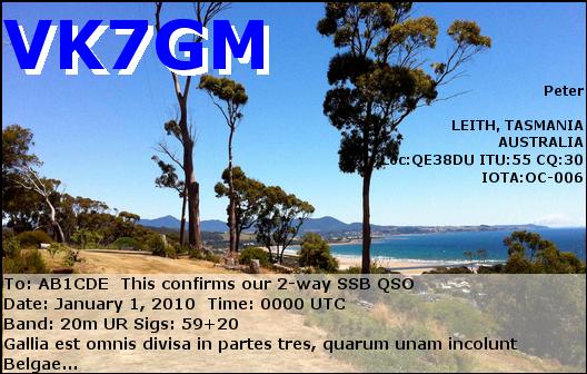 AX7GM Leith, Tasmania eQSL