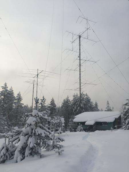 RU1A CQ WW 160m CW Contest 2019 Image 1 Antennas