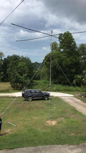 V84SAA Brunei SSB QTH Antennas Image 1
