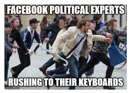 Facebook Political experts rushing to their keyboards