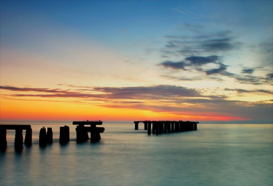 W4DTO. Sunset, Gasparilla Island at Boca Grand Pass
