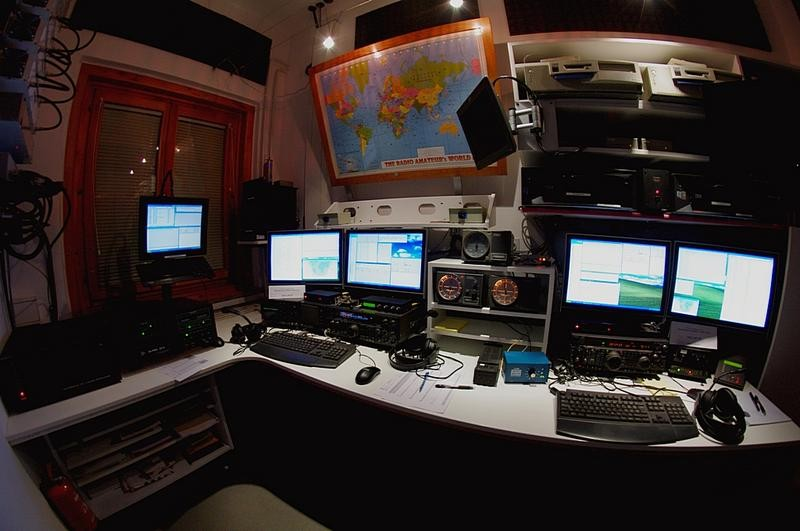 S549APR Radioklub Triglav, Ljubljana, Slovenia. Radio Room Shack.