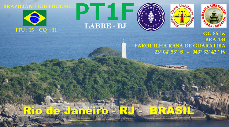 PT1F Ilha Rasa de Guaratiba, Brazil QSL.