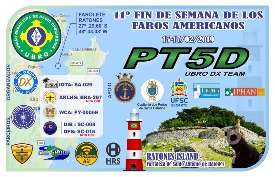 PT5D Ilha do Raton Grande, Brazil QSL Card
