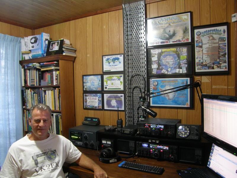 VK2ANT John Sharpe, Bowraville, Australia. Radio Room Shack.