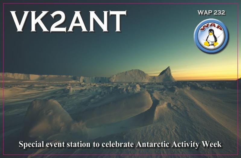 VK2ANT Antarctic Activity Week, Bowraville, Australia. QSL Card.