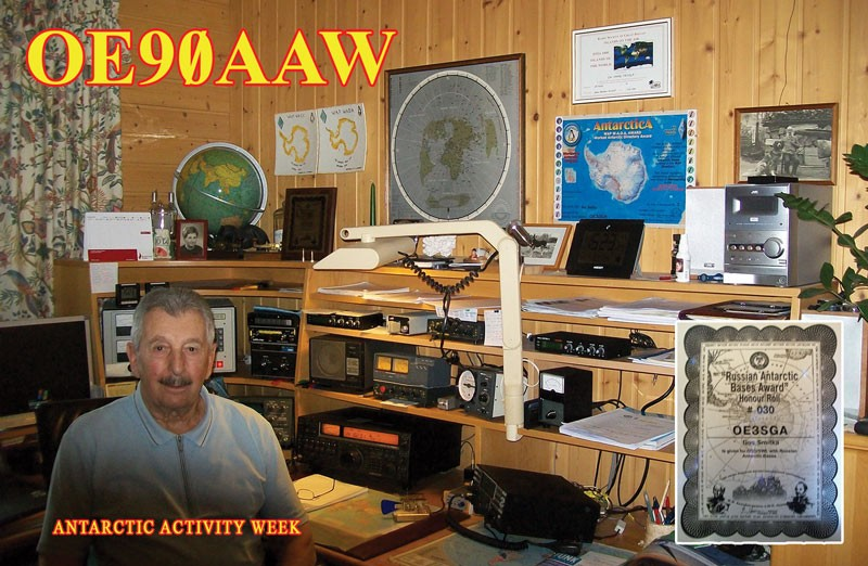 OE90AAW Gus Smitka, Pottendorf, Austria. Antarctic Activity Week