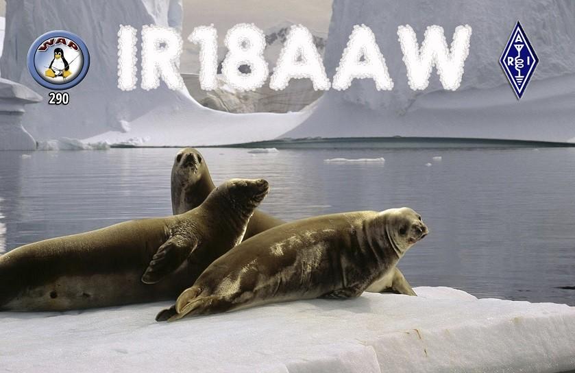 IR18AAW Agostino Palumbo, Grazzanise, Caserta, Italy. Antarctic Activity Week