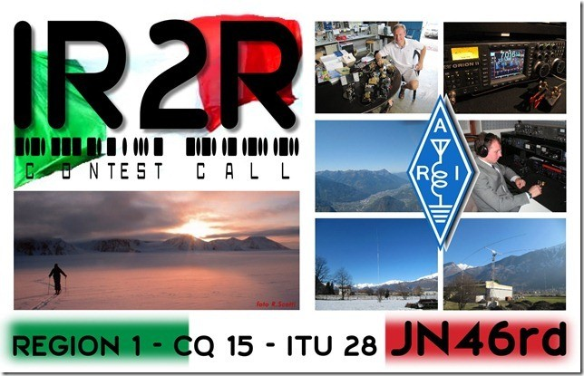IR2R Piantelo, Italy QSL Card