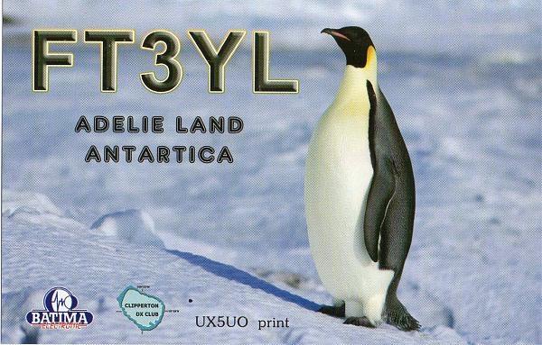 FT3YL. Mariotti Francois (F4HLT), French Antartica Base Dumont D'Urville Antarctica
