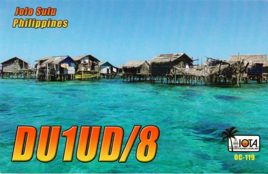 DU1UD/8 QSL Jolo Sulu Island