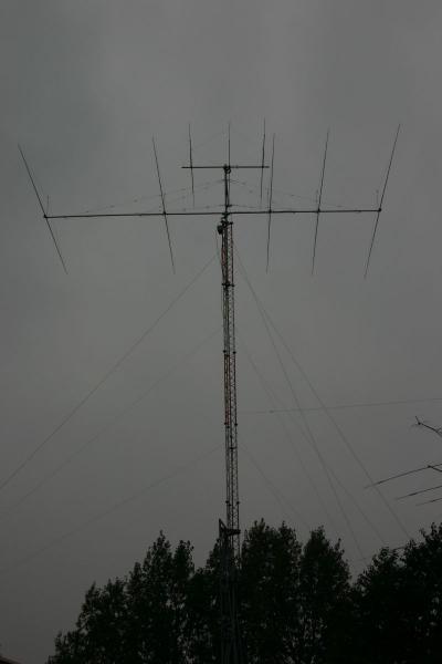 OK7K Sazena Aerodrome, Czech Republic. Antennas
