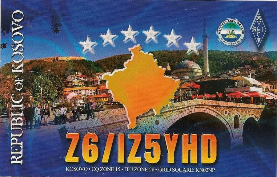 Z6/IZ5YHD Kosovo QSL Card
