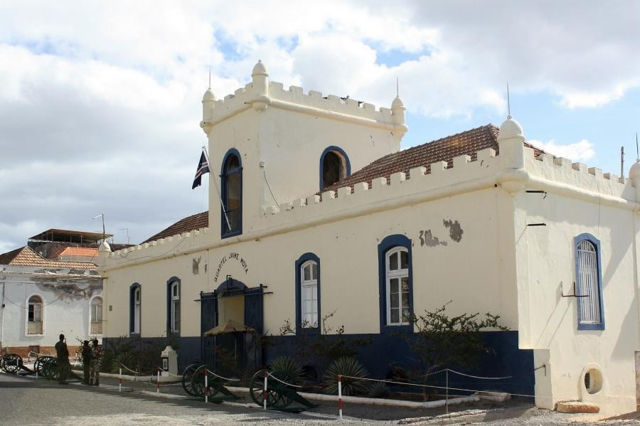 D4A Army building, Praia, Santiago Island, Cape Verde, Cabo Verde.