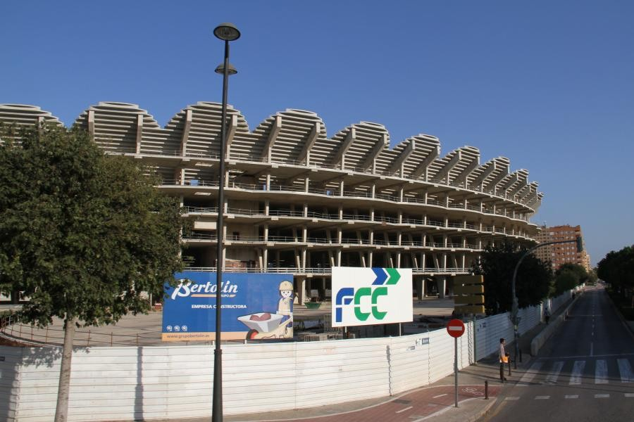 EE100V Valencia Football Club Stadium, Valencia, Spain.
