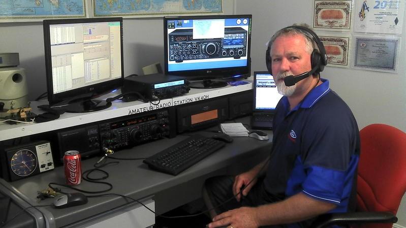 VK4QH Ken Bawden, Gatton, Queensland, Australia. Radio Room Shack