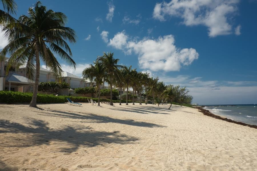 ZF2IN Deserted beach near Conch Point, Grand Cayman Island, Cayman Islands.