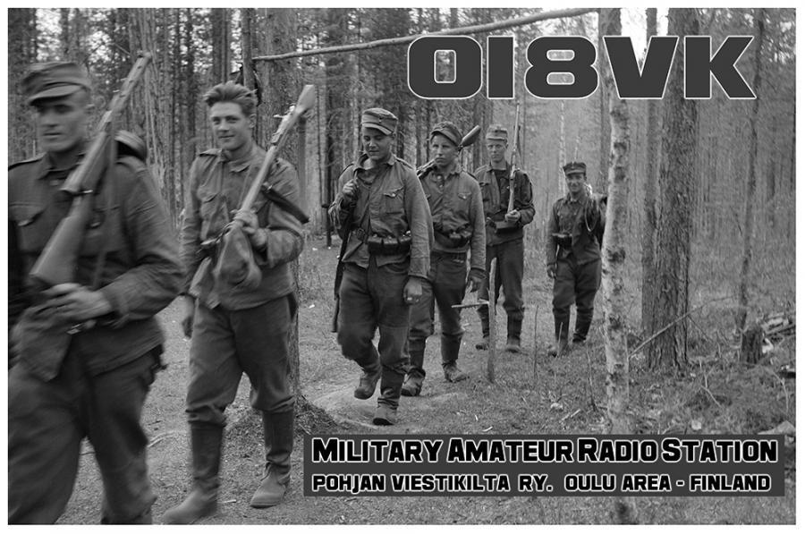 OI8VK Pohjan Viestikilta ry, Oulu, Finland. QSL Card