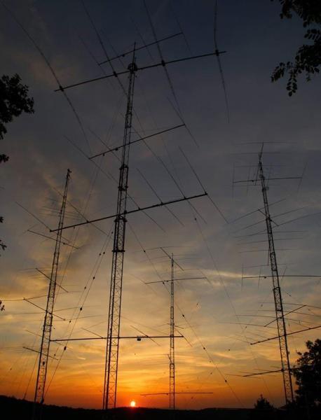 LX7I Eschdorf, Luxembourg. Antennas ARRL DX SSB Contest