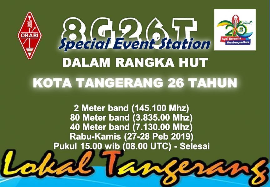 8G26T ORARI Lokal Tangerang, Indonesia