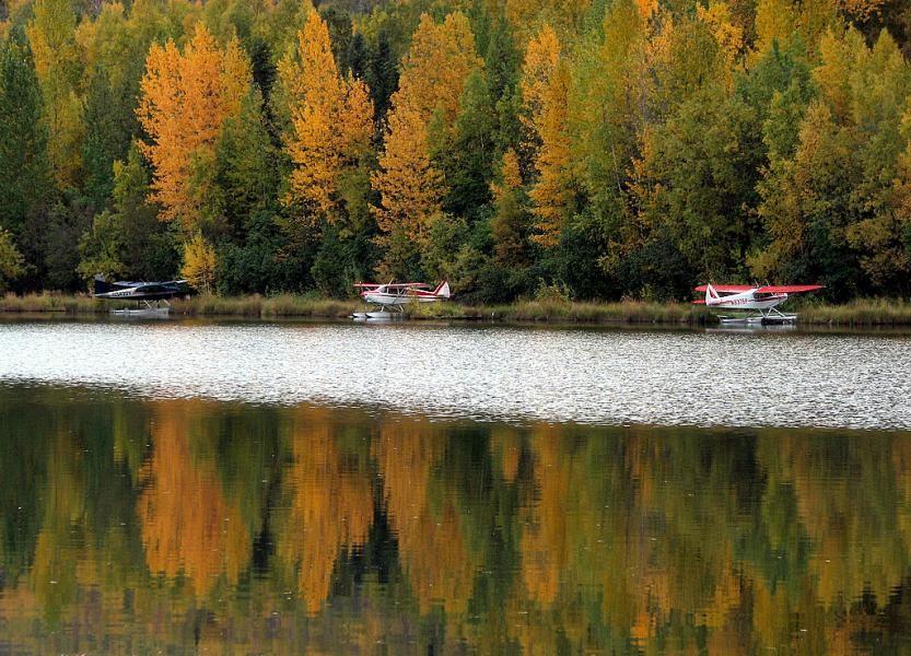 KL5T Fire Lake, Eagle River, Alaska.