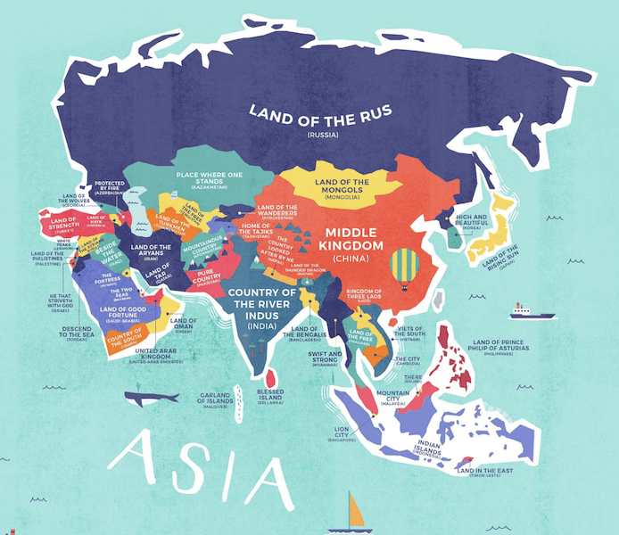 Asia Map Credit Card Compare