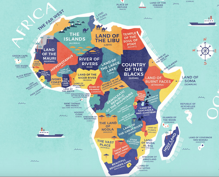 Africa map Credit Card Compare