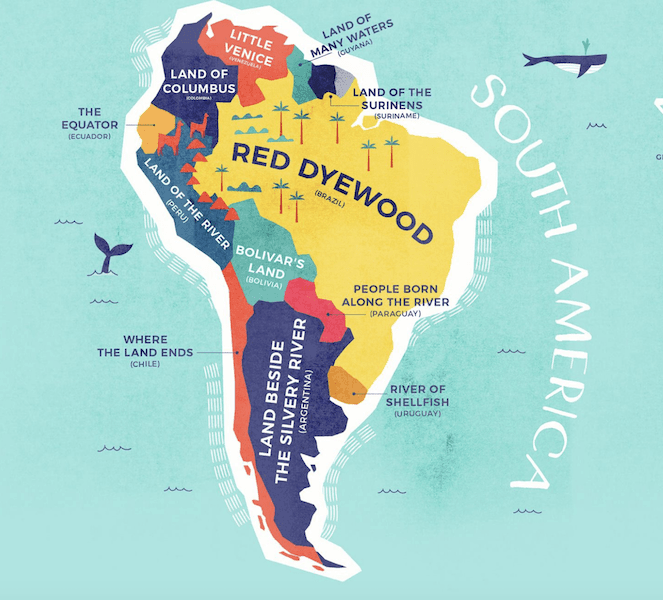 South America Map Credit Card Compare