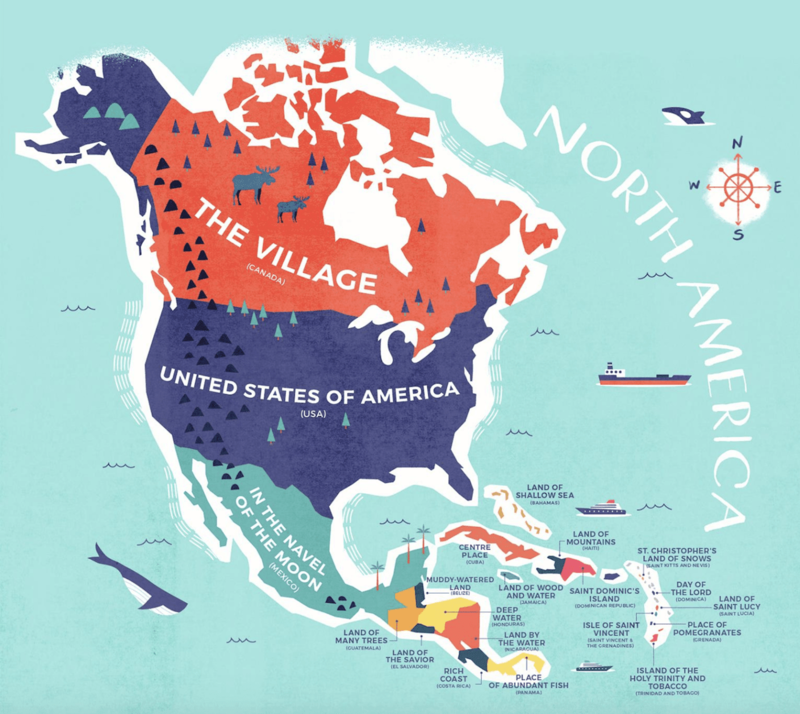North America Map Credit Card Compare