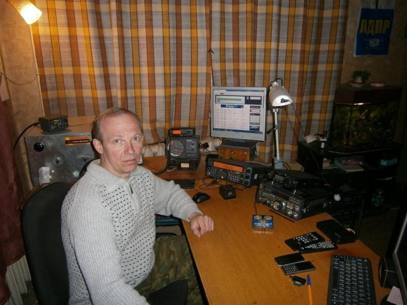 R5WW Igor Plugatarev, Kursk, Russia. Radio Room Shack.