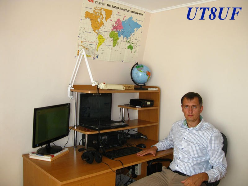 UY3U Vitalii Krasun, Kiev, Ukraine Radio Room Shack.