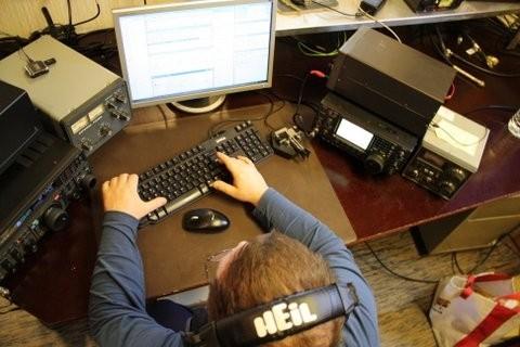 OR2F Lyubomir Slavov, Poperinge, Belgium. Radio Room Shack.