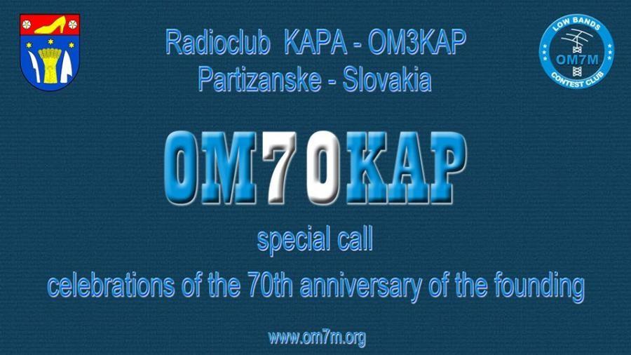 OM70KAP Radioklub KAPA, Partizanske, Slovak Republic