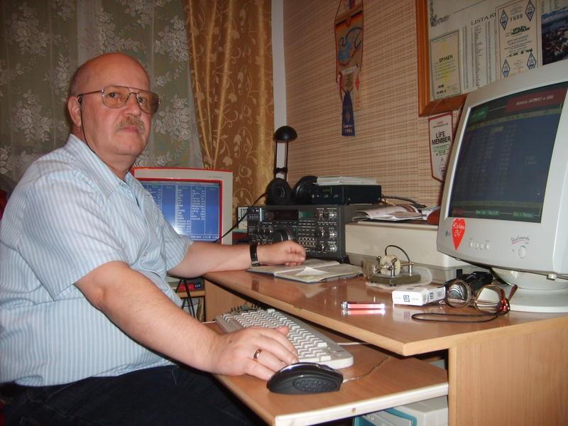 SP1AEN Wladyslaw Wdowczyk, Debrzno, Poland. Radio Room Shack.