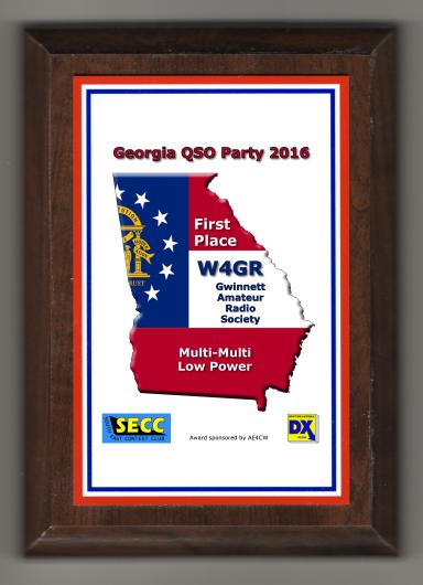 Georgia QSO Party GQP Trophy