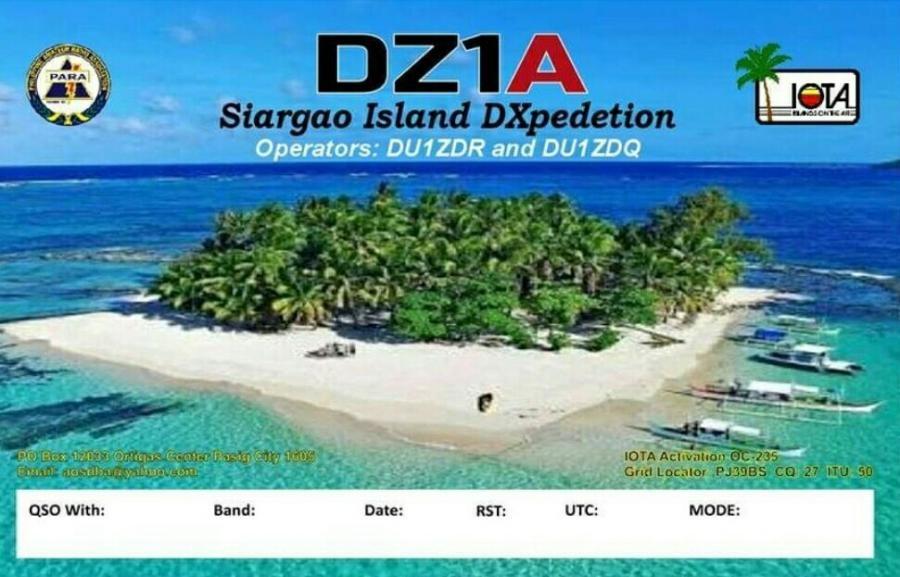 DZ1A Siargao Island, Philippines