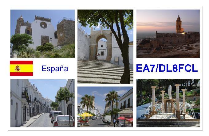 EA7/DL8FCL Walter Fey, Spain. QSL Card