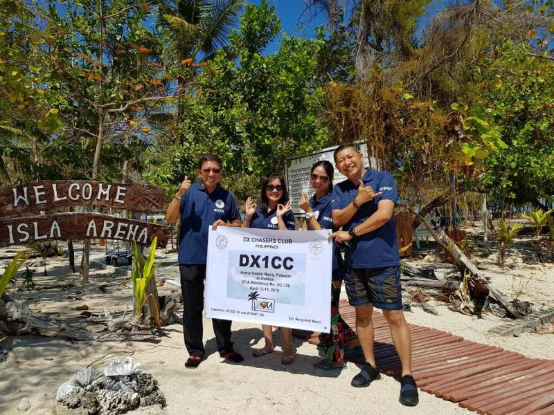 DX1CC Isla Arena IOTA OC - 128, 15 April 2019