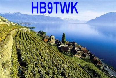 HB9TWK Denis Brunet, Blonay, Switzerland QSL Card