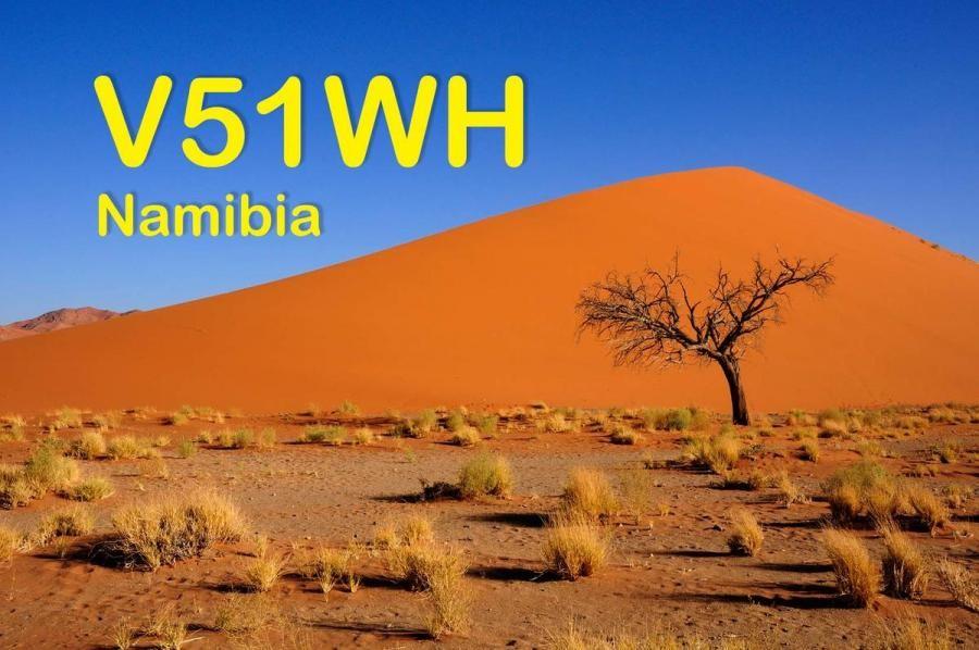 V51WH Guenter Hartmann, Omaruru, Namibia QSL Card