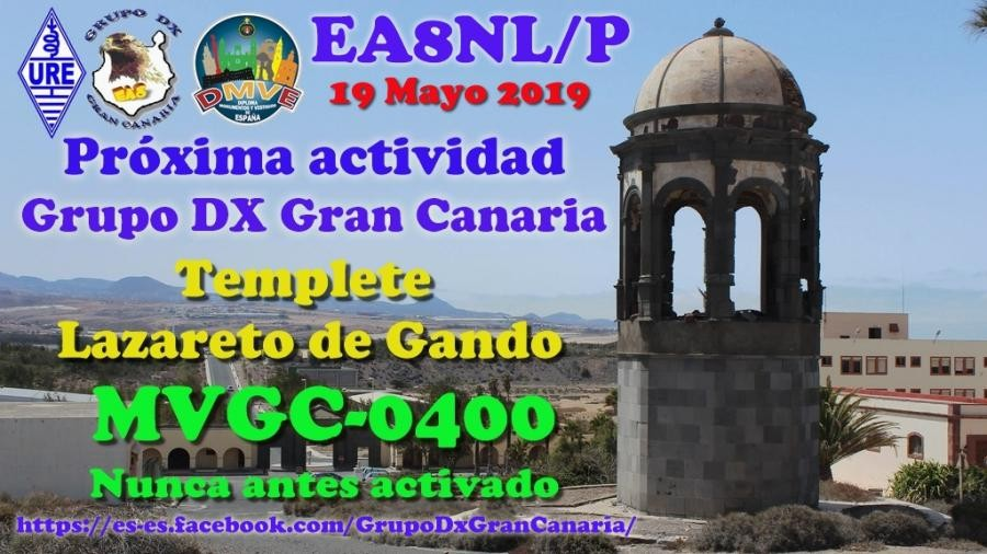 EA8NL/P Templete Lazareto de Gando, Gran Canaria Island, Canary Islands