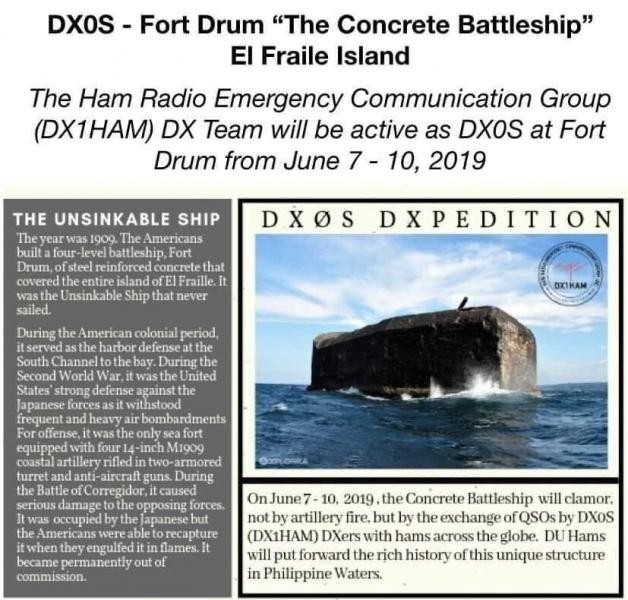 DX0S Fort Drum, El Fraile Island, Philippines